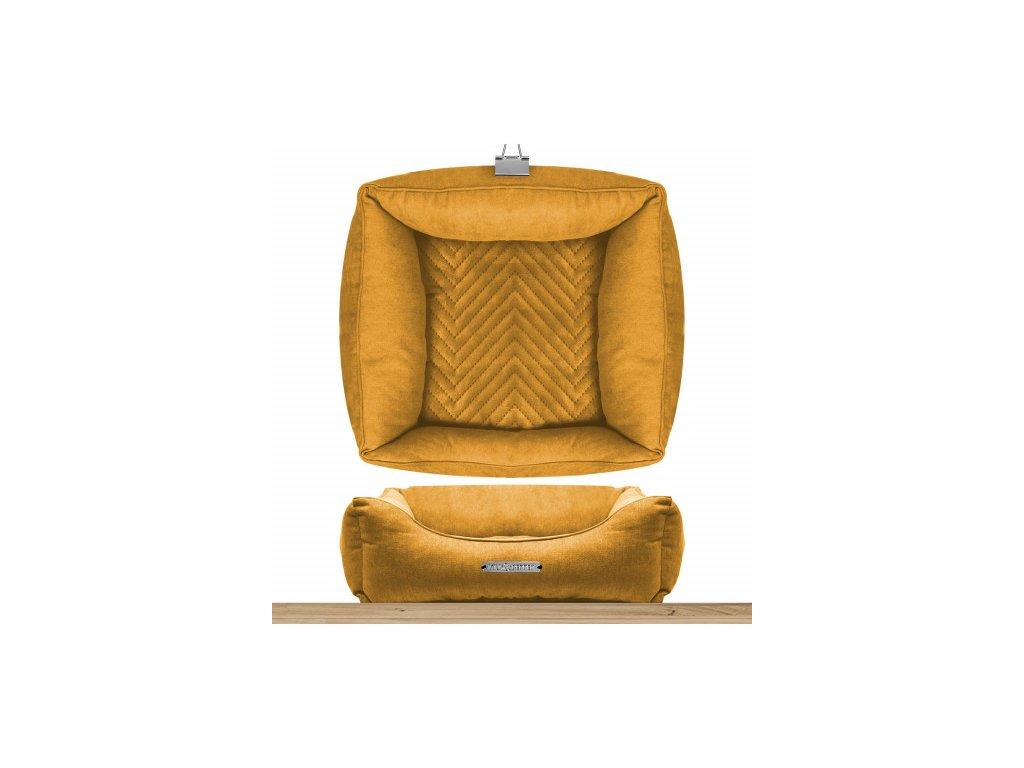 saint germain square sofa mustard