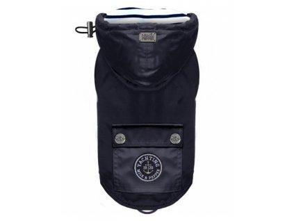 navy babord raincoat removable hood