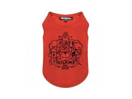 t shirt doodle orange