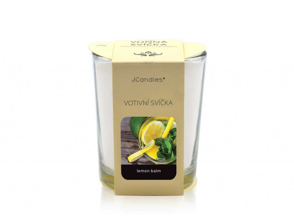 jcandles votive color v krabicce lemon balm