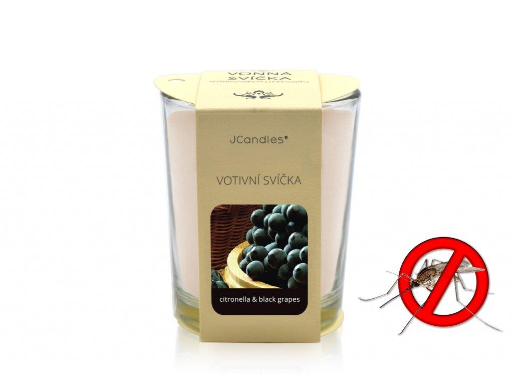 jcandles votive color v krabicce citronella black grapes1