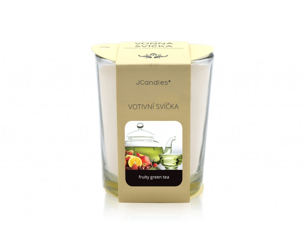 jcandles votive color v krabicce fruity green tea