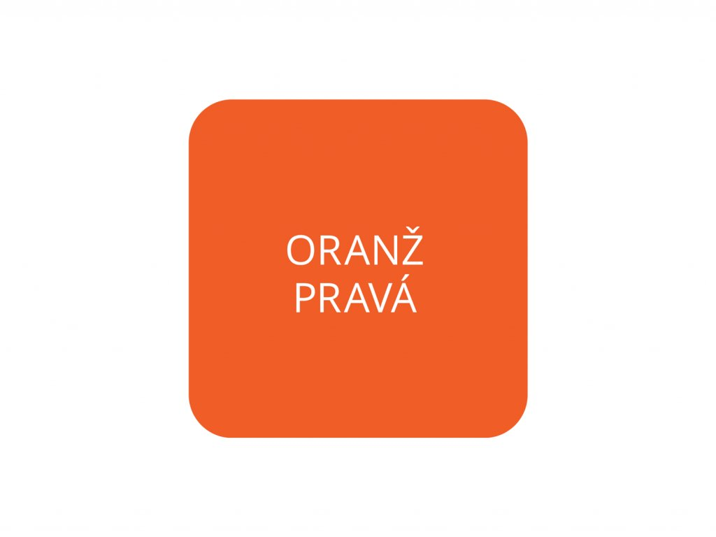 jcandles barva tekuta oranz prava