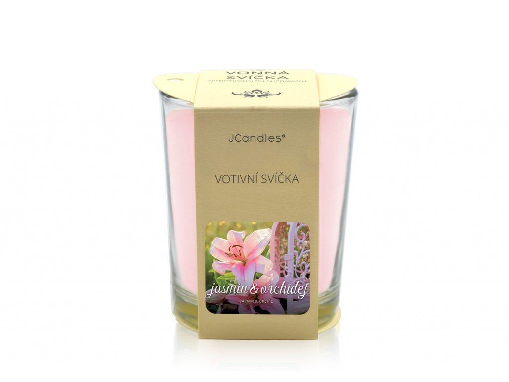 jcandles votive color v krabicce jasmin orchid