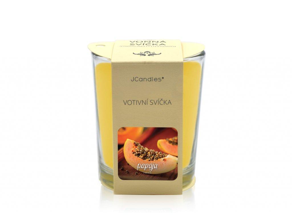 jcandles votive color v krabicce papaya