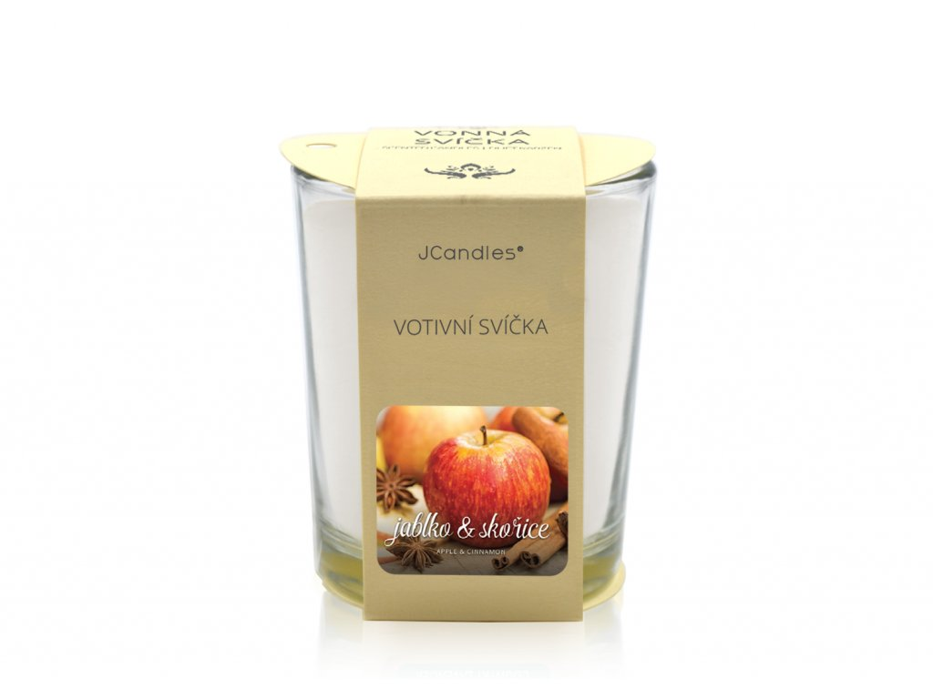 jcandles votive color v krabicce apple cinnamon