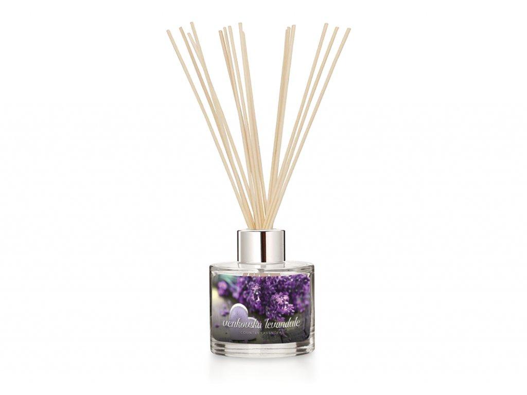 Difuzer svetle tyčinky pure country lavender 1