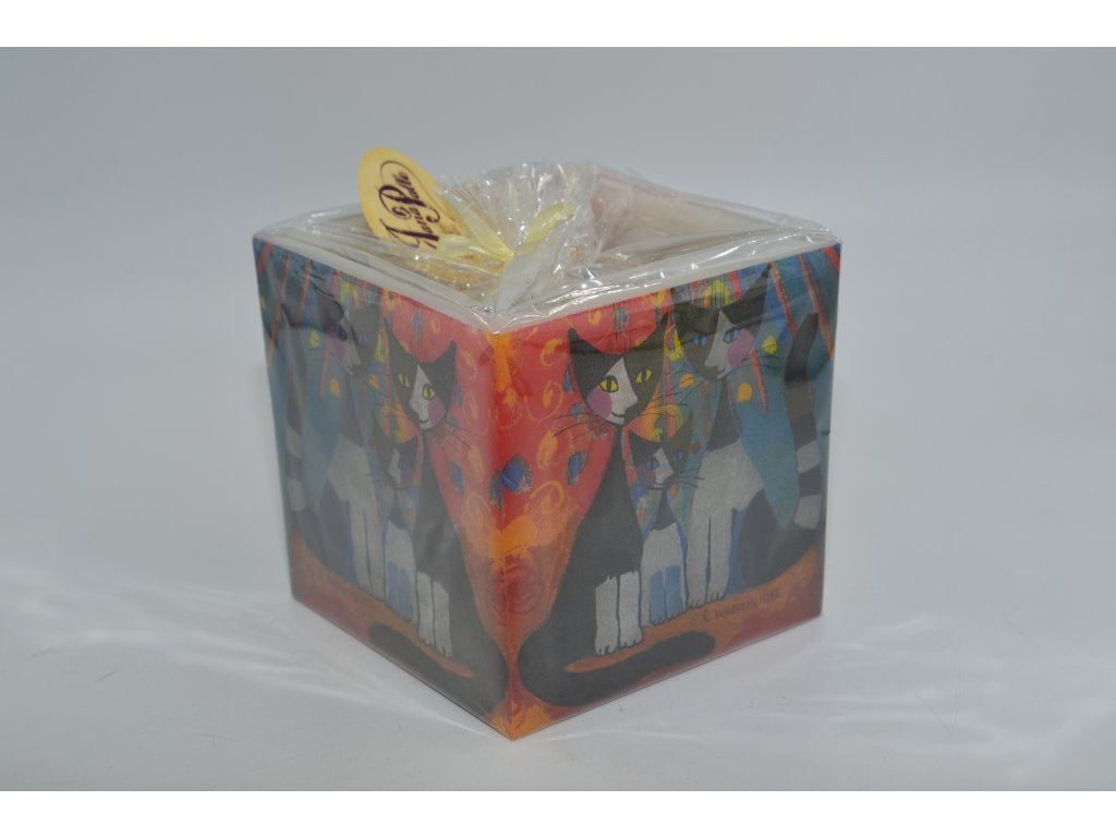 voskový svícen | malované kočky