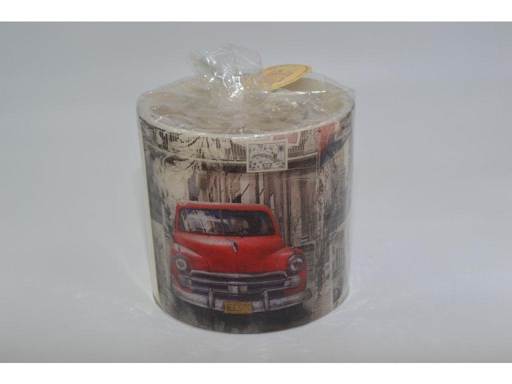 voskový svícen | červené auto