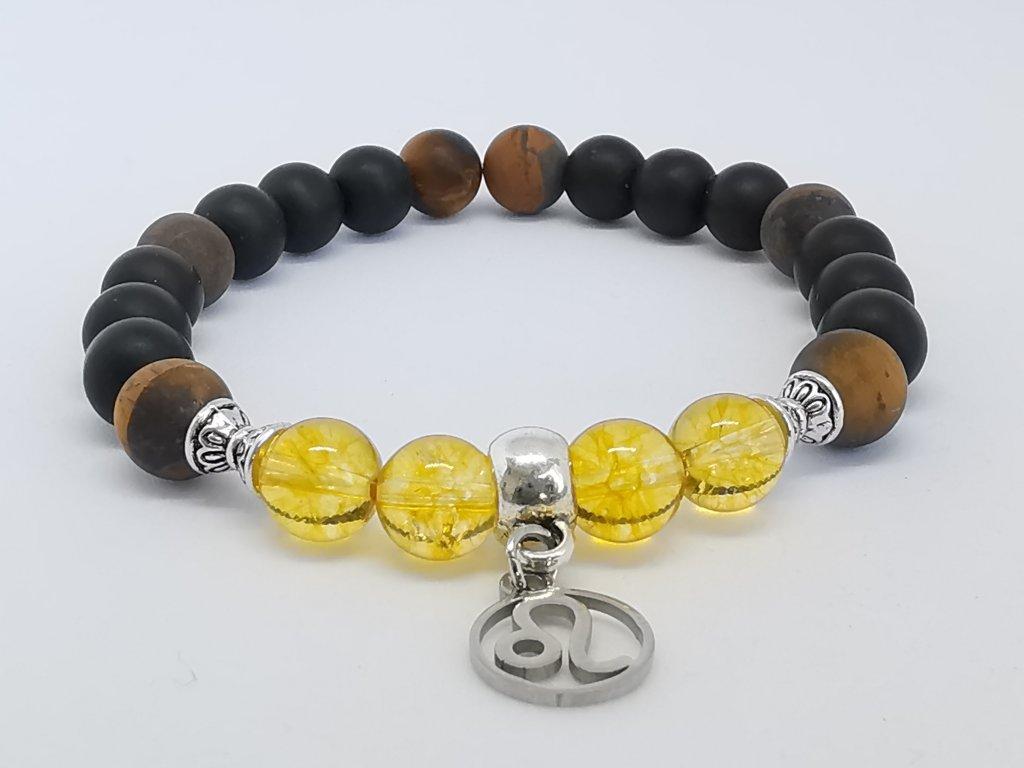 náramek z minerálů - Lev