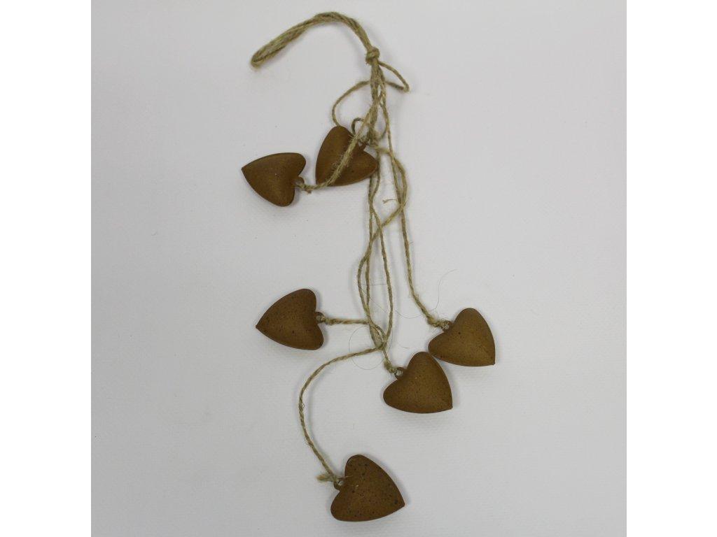 hhi w78046a srdce zaves kov 46cm natural