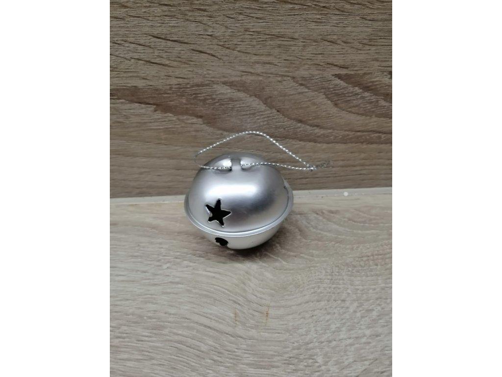 Rolnička kovová | stříbný mat 4 cm