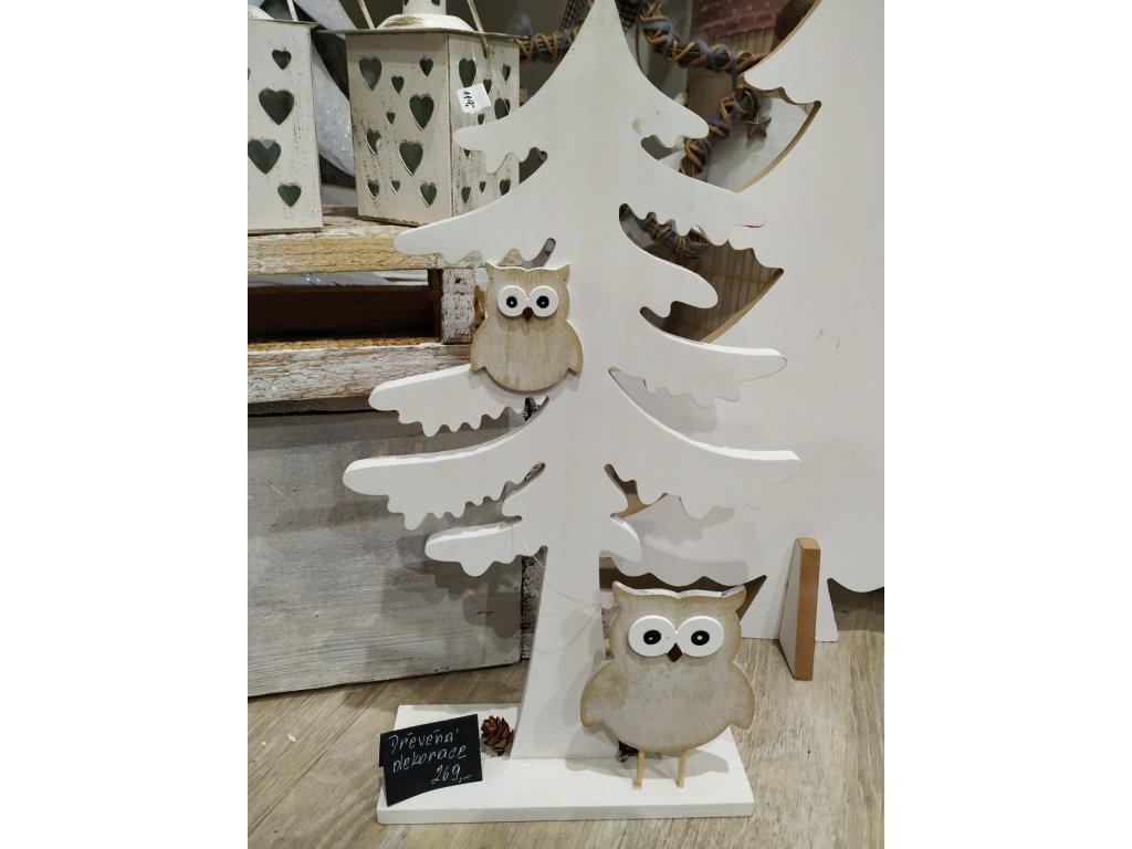 Dřevěný stromek se sovou