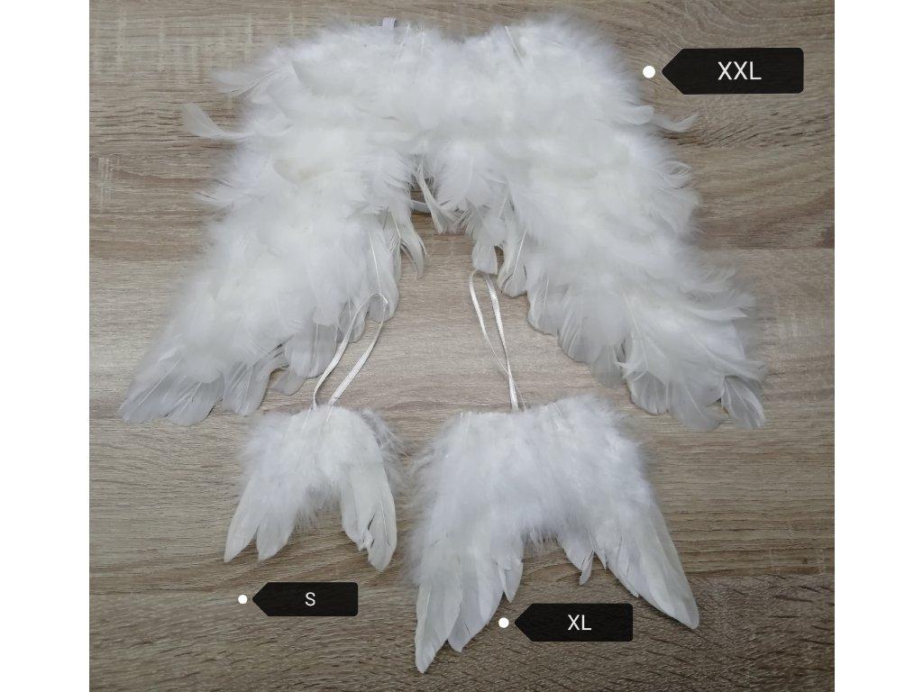 andělská křídla XXL 36 cm   bílá