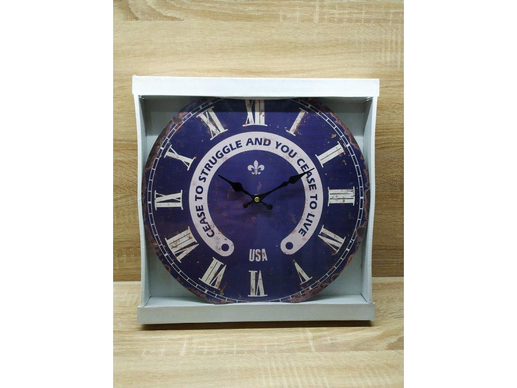 nástěnné hodiny | tmavě modré