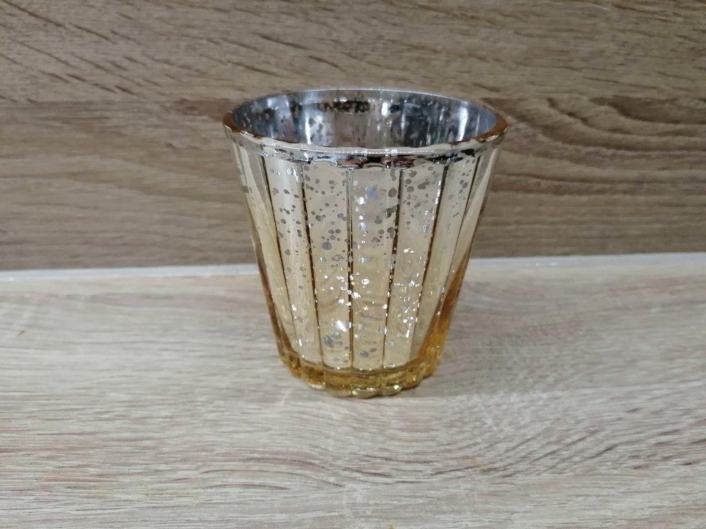 Svícen champange | stříbný na vrchu