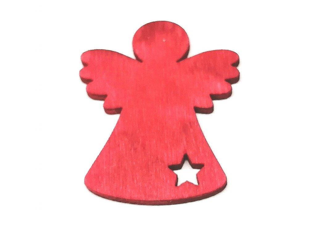 Anděl 4 cm | červený