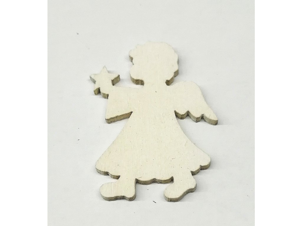 Anděl 4 cm | bílý