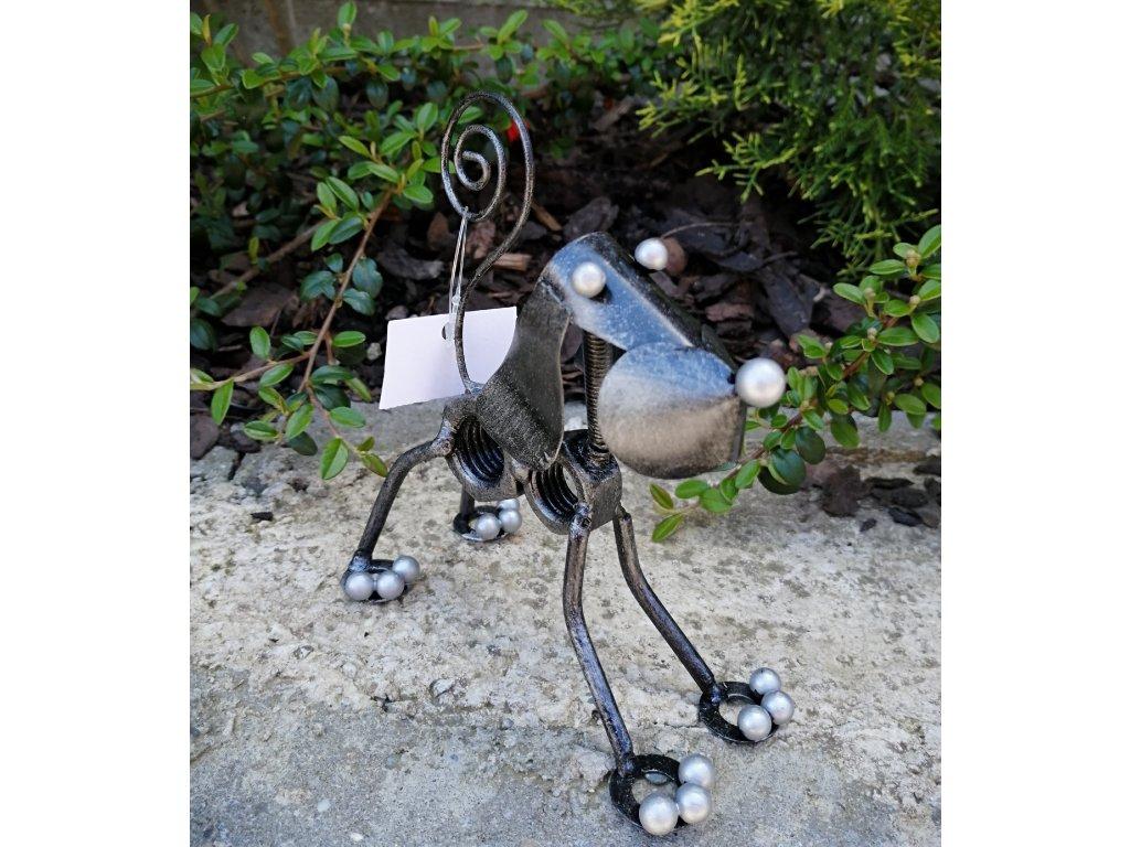 kovový pes matka   13,5 cm
