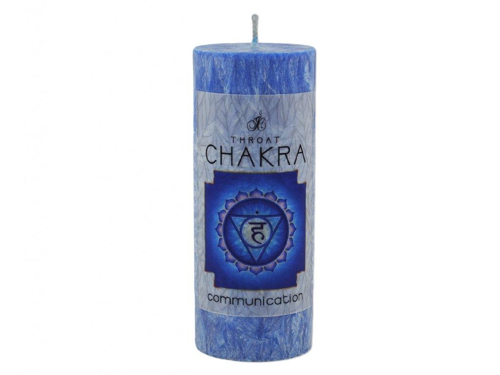 svíčka na harmonizaci čaker    5. čakra – hrdelní (Viśuddha)