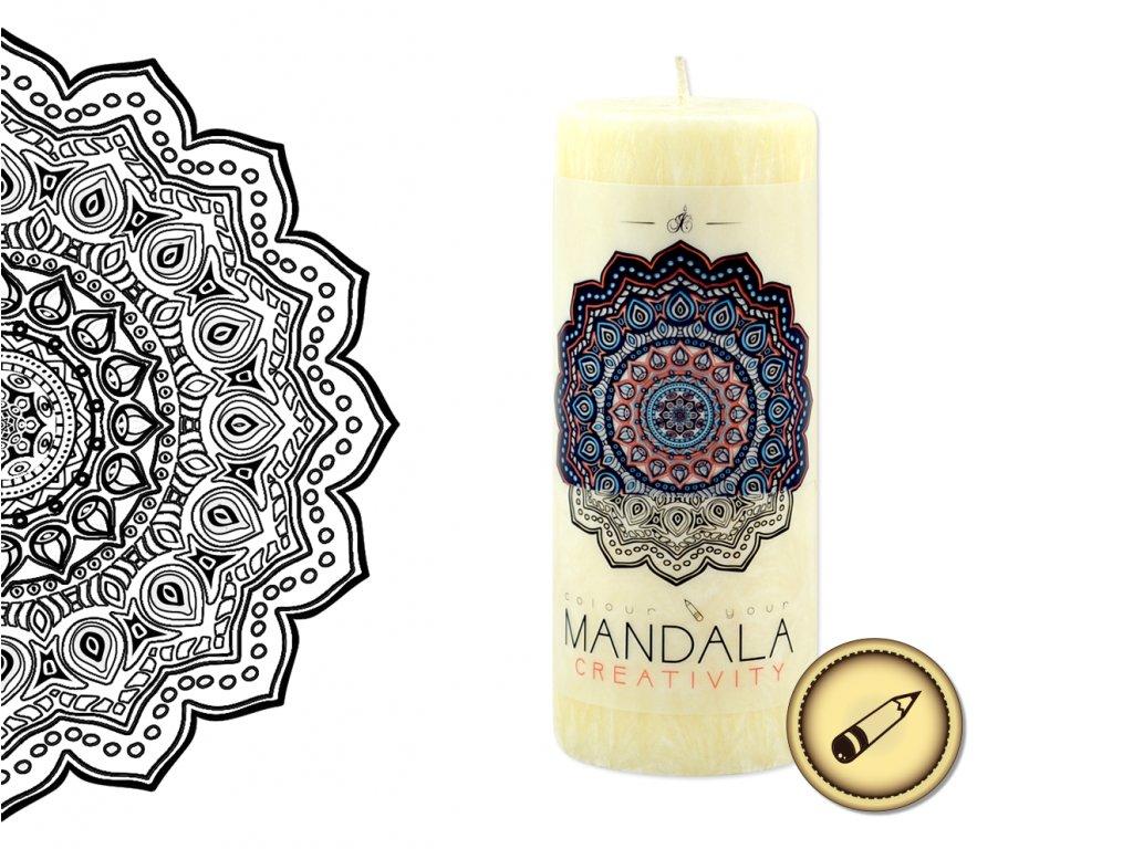 vonná svíčka s omalovánkou | Mandala - Tvořivost