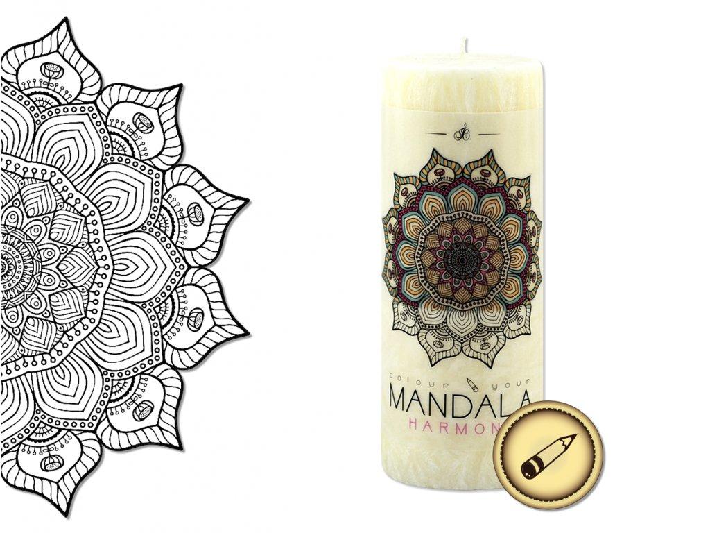 vonná svíčka s omalovánkou | Mandala - Harmonie