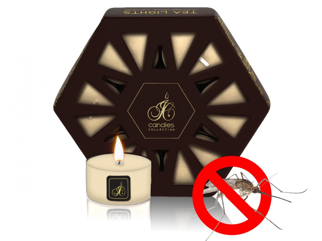 TEA LIGHT REPELLENT CITRONELLA BLACK GRAPES