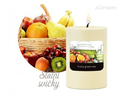 JCandles COLOR INTENSIVE STOLNI SVICKA 0024 FRUITY GREEN TEA