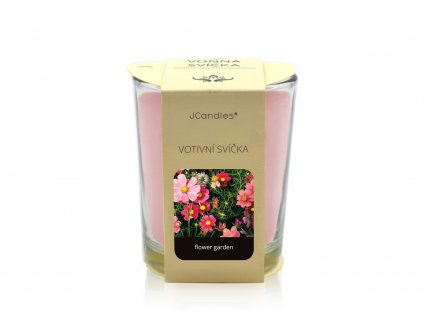 jcandles votive color v krabicce flower garden