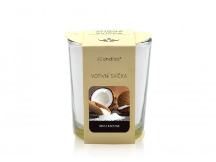 jcandles votive color v krabicce white coconut