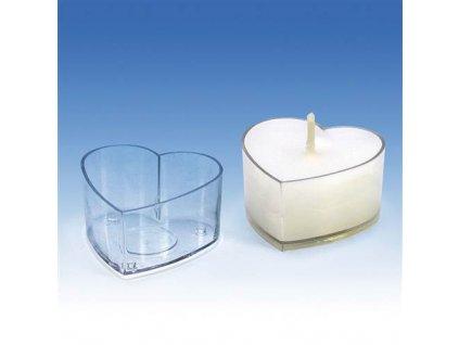 forma na čajovou svíčku srdce
