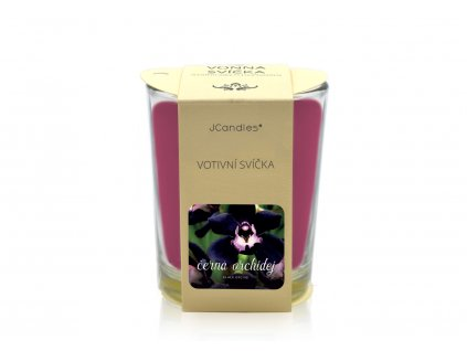 jcandles votive color v krabicce black orchid