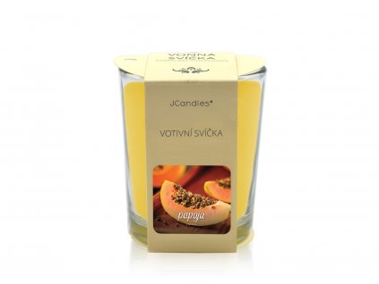jcandles votive color v krabicce papaya