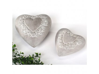 dekoracni srdce um beton 16 cm