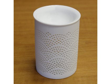 hy011 aromalampa keramika bila A10000010738