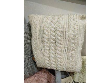 Pletený polštář | bílý