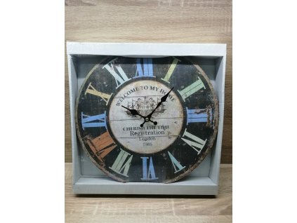 nástěnné hodiny 33,8 cm | barevné