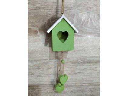 Zelený domeček k zavěšení