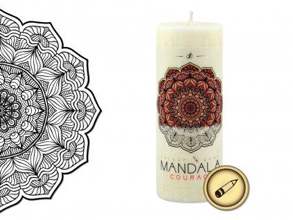 vonná svíčka s omalovánkou | Mandala - Odvaha