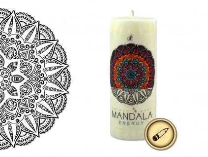 vonná svíčka s omalovánkou | Mandala - Energie