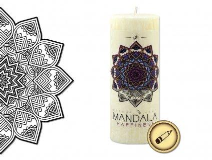 vonná svíčka s omalovánkou | Mandala - Štěstí