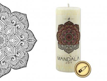 vonná svíčka s omalovánkou | Mandala - Radost