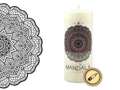 vonná svíčka s omalovánkou | Mandala - Láska
