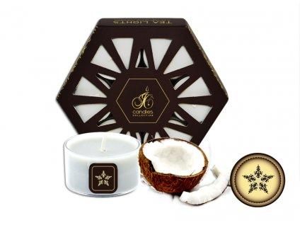 čajové svíčky 7 ks | White Coconut