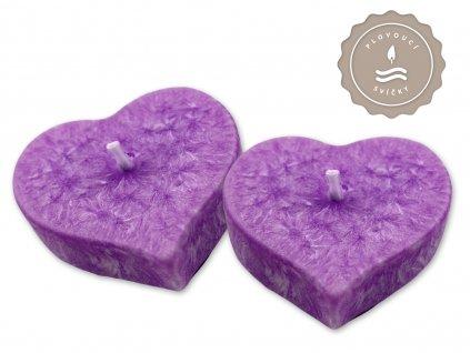 jcandles plovouci svicky floral country lavender