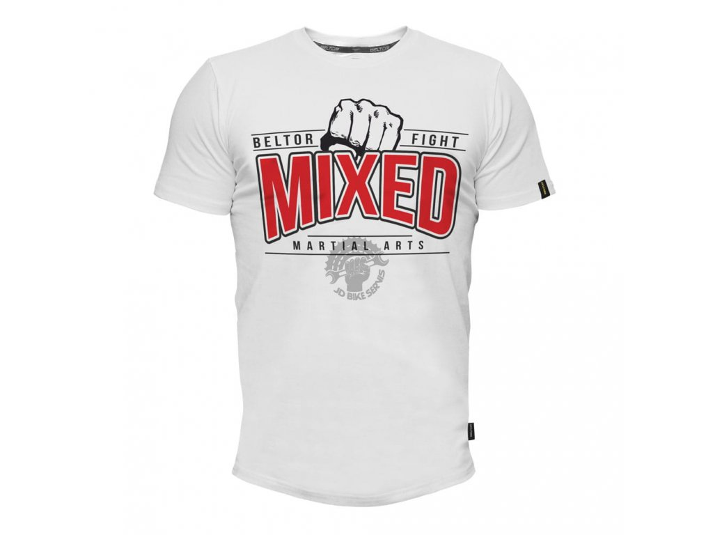 Pánské triko Mixed Martial Arts Slim - bílá