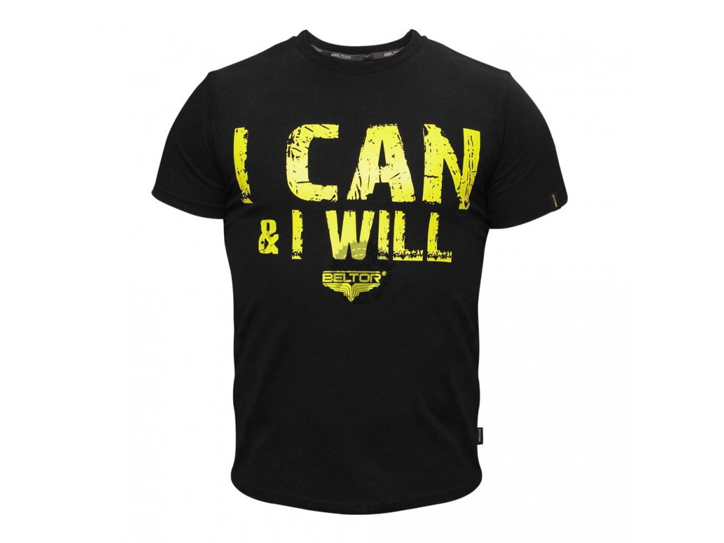 Pánské triko I CAN & I WILL Beltor Slim - černá