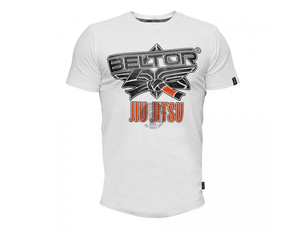 Pánské triko Jiu Jitsu Beltor Slim - bílé