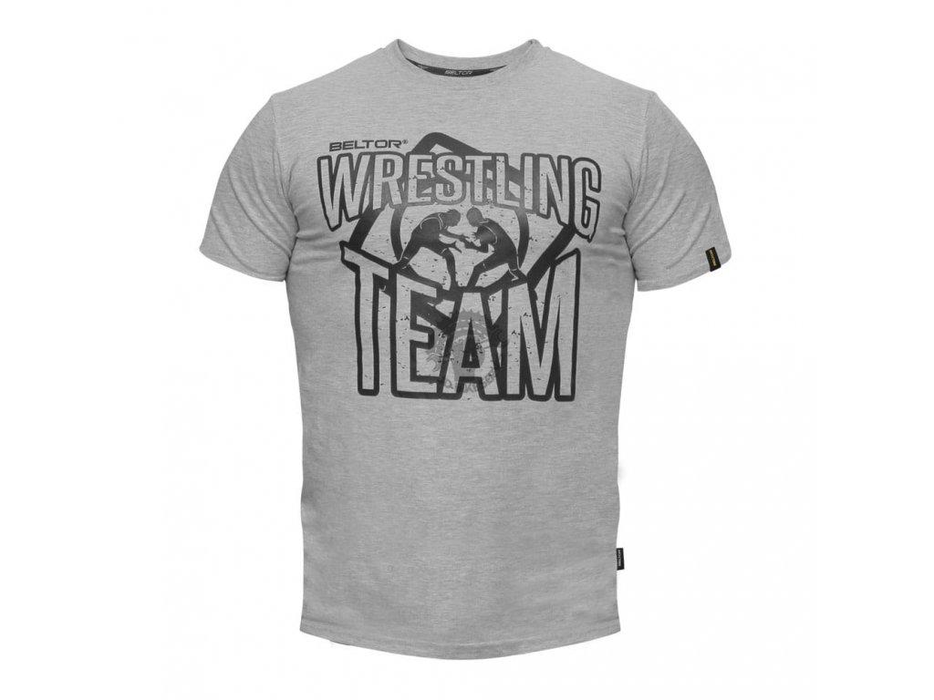 Pánské triko Wrestling Team Beltor Slim - šedá