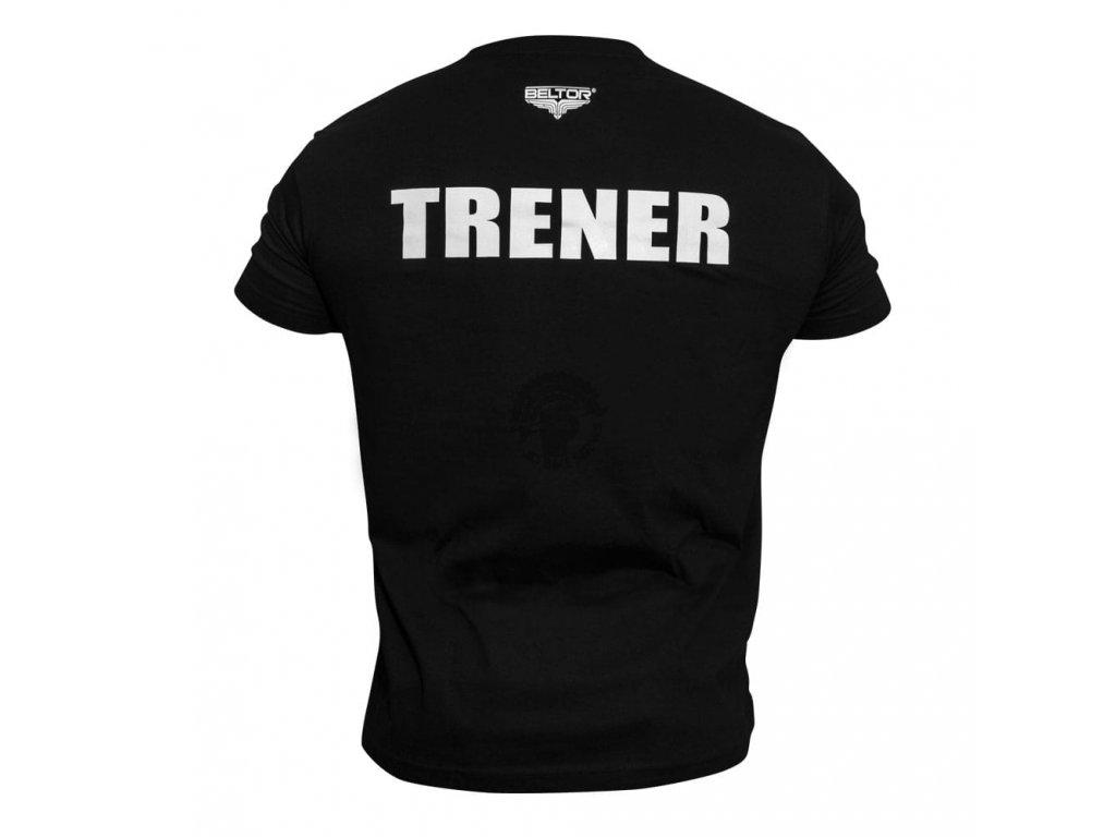Pánské triko TRENER Beltor Slim - černá